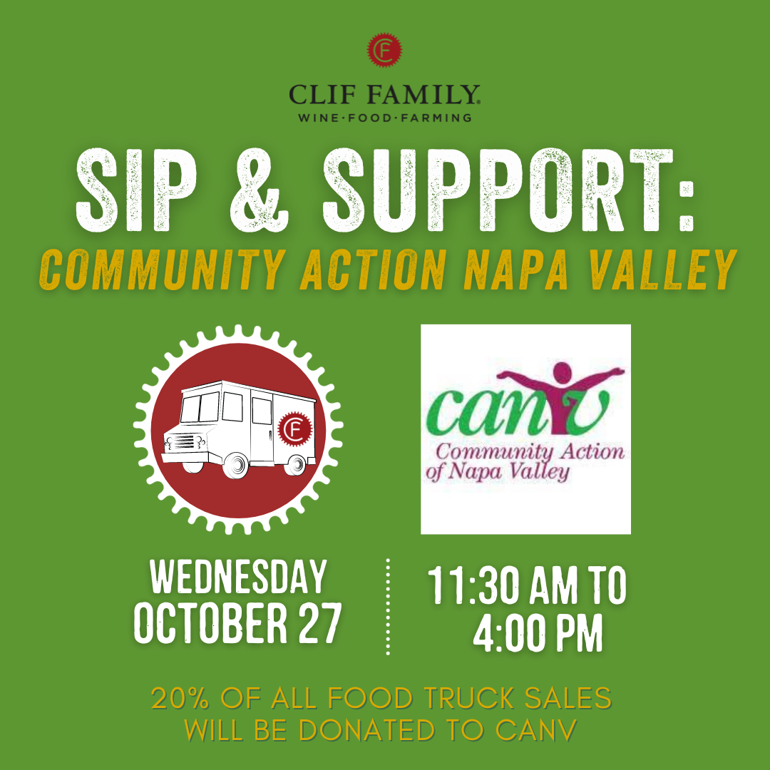Sip & Support with Clif Family Benefitting Community Action Napa Valley